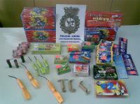 Policia incauta pirotecnia ilegal