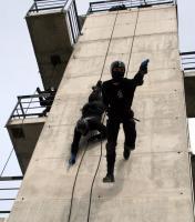Rapel táctico policial. Foto: Ayunto. Las Rozas