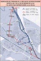 Plano de la nueva ruta del 628